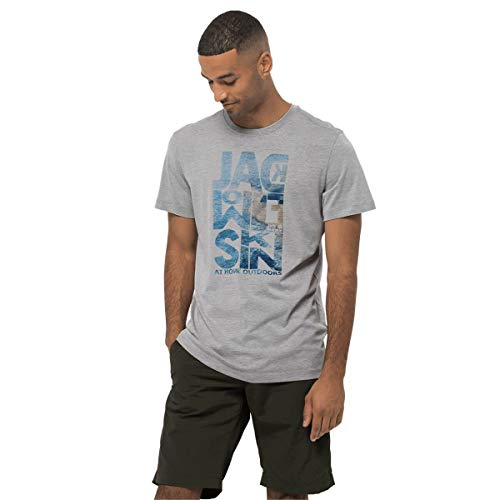 Jack Wolfskin Atlantic Ocean T-Shirt Homme T-Shirt Homme Slate Grey FR : XL (Taille Fabricant : XL)