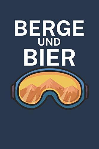 Berge und Bier: Pistenlogbuch/Pistentagebuch für Skifahrer auf der Skipiste. 120 Seiten mit Seitenzahlen. Für Notizen oder die Planung des Aprés Ski und des Ski Ausflugs.