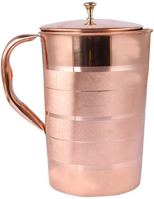 Title Pure Copper Water Pitcher With Lid 50 Oz Ayurvedic Drinking Health Benefit Natural Solid Leak Proof Copper Jug For Drinking Water