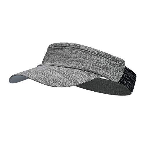 SHJIA Sombrero De Verano para Correr Al Aire Libre, Protector Solar De Entrenamiento, Secado Rápido, Sombrero De Copa Vacío, Sombrero Deportivo