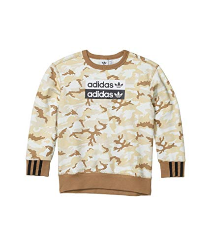 adidas Originals Kids' Big Juniors V-ocal Crewneck Sweatshirt, Multi/Cardboard, Large
