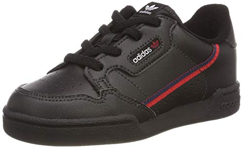 adidas Jungen Unisex Kinder Continental 80 I Sneaker, Schwarz (Core Black/Scarlet/Collegiate Navy 0), 19 EU