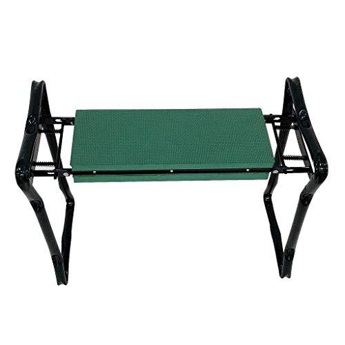 Sotech - Siège de Jardin Pliable, Banc Agenouilloir de Jardin, Vert, Taille déployée: 62 x 48 x 28 cm, Charge maximale: 110 kg
