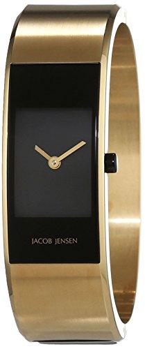 JACOB JENSEN Damen Analog Quarz Uhr mit Edelstahl Armband Eclipse Item NO. 444