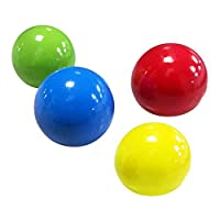 4x Sticky Beady Balls Stress Reliever Toy Ball ,65mm Fluorescent Sticky Wall Ball Sticky Target Ball Decompression Kid Toy (Without Noctilucent)