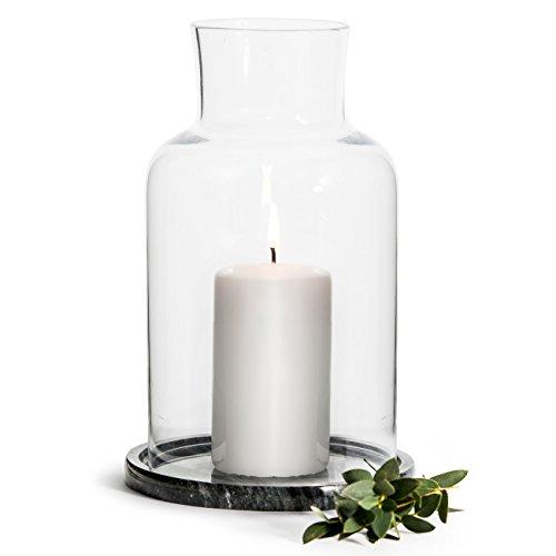 Sagaform Winter Windlicht, Glas, Transparent, 21.5 x 21.5 x 13 cm