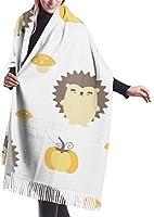 女性の冬のスカーフカシミヤの感触パターンかわいい漫画の豚幸せなスカーフスタイリッシュなショールは女性のための柔らかく暖かい毛布のスカーフを包みます