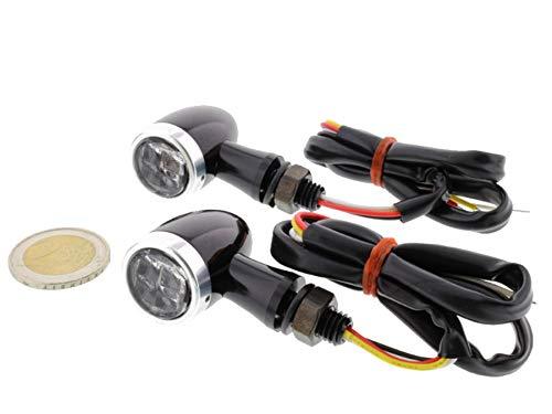 Blinker mit Rücklicht Bremslicht Bullet Mini CNC Motorrad LED 2 Stück E-Prüfzeichen