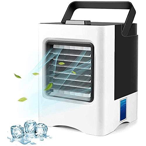 Air Cooler Refrigerador de aire evaporativo portátil, mini acondicionador de aire 3 en 1 / humidificador / purificador, ventilador USB de escritorio, refrigerador de aire compacto con tanque de agua d