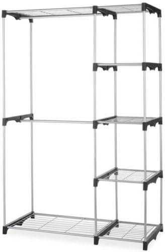 Closet Organizer Storage Rack Portable Max 40% OFF Clothes Garme Hanger Home 55% OFF