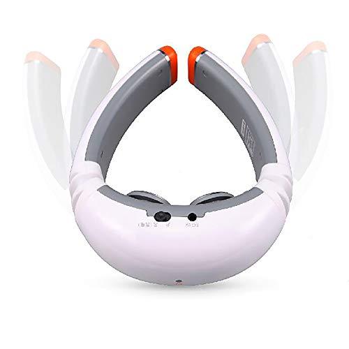 LABYSJ Elektrisches Nackenmassagegerät, 4 Modi, 16 Stufen Elektrisches Pulshalsmassagegerät, zur Linderung von Nackenschmerzen, Tragbares Intelligentes mit Heizfunktion,Wired