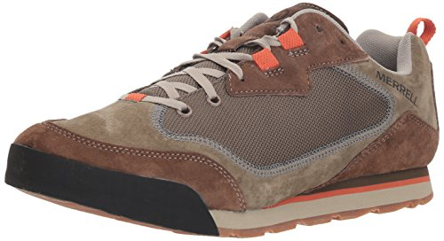 Merrell Men's Burnt Rock Travel Suede Hiking Shoe, Dusty Olive, 12 M US