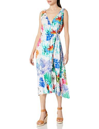 Desigual Vest_Seychelles Swimwear Cover Up, Blanco, M para Mujer