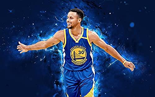 XIAYUU Stephen Curry NBA 5D DIY Pittura Diamante Kit,Diamond Painting Kit Completo,Ricamo con Strass Punto Croce Pittura a Mosaico per Decorare Casa e Pareti(40 x 60 cm)