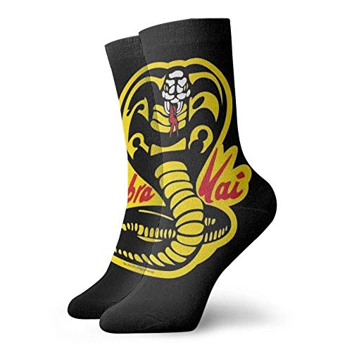 Yuanmeiju calcetines de punto Soft And Breathable Socks Karate Kid Retro Graphic. Unisex ty Polyester Breathable Socks