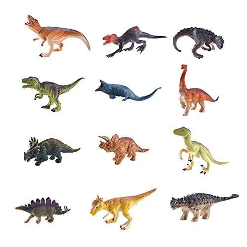 jingjing Juego de 12 alfombrillas de juego con diseño de animales marinos, diseño de dinosaurios, juego de mapas (I)