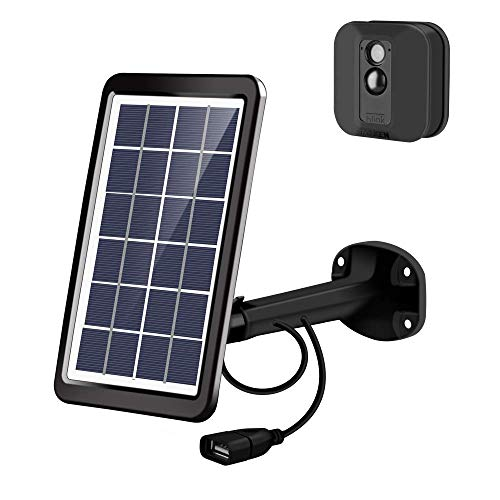 Tyrone Solar Panel Compatible Blink XT/Blink XT2, Solar Panel and Adjustable Metal Mount Bracket, 10FT Power Charging Cable Only for Blink XT/Blink XT2 (Black)