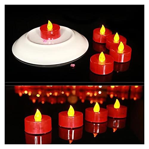 ZHAHAPPY 18 Unids/Pack Velas LED Luces De Té Velas Sin Llama Lámpara LED Tealight Batería Velas Luces para Decoración De Fiesta Y Boda