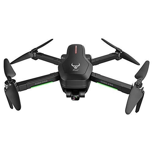GoolRC Beast SG906 Pro 2 GPS RC Drone con Cámara 4K Motor sin Escobillas de Cardán de 3 Ejes 5G WiFi FPV Posicionamiento de Flujo óptico Cuadricóptero 1200m Distancia de Control con 3 Baterías