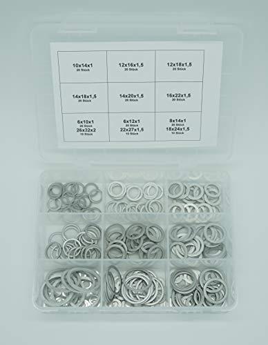 210 tlg ALU Dichtring Sortiment Aluminium Dichtung Dichtungsring Satz - Set