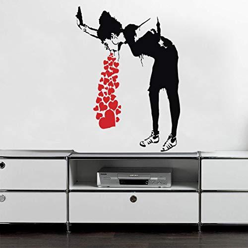 mlpnko Wandaufkleber Aufkleber Vinyl Street Art Graffiti schlafzimmerdekoration kreative schlafzimmerdekoration wandaufkleber 111x81cm