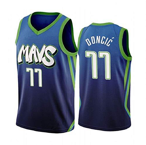 CCKWX Herren-Basketball-Trikots - NBA Dallas Mavericks Jersey, Kühle Breathable Gewebe Unisex Ärmel Basketball-T-Shirts,L:180cm/75~85kg