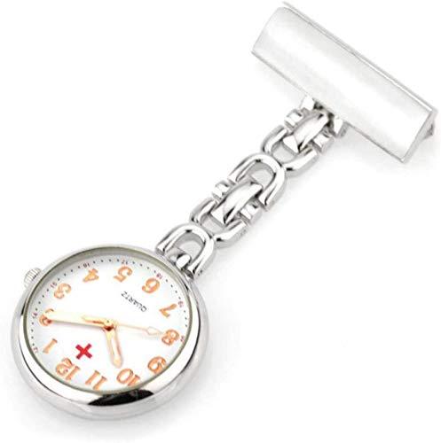 Mode Rundzifferblatt Krankenschwester Medizinische Uhr Brosche Importiertes Uhrwerk Frauen Taschenuhr Tunika Uhr Taschenuhr Geschenk