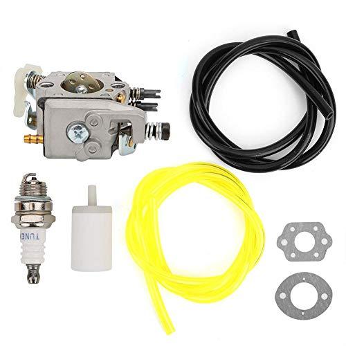 Carburador de Motosierra, Herramienta Hardware, Aluminio Fundido Ligero para Husqvarna 50/51/55, Tratamiento de Superficie Anodizado, Piezas Repuesto Motosierra, Ajuste del Kit Carburador