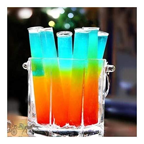 Jinchao- Tubos de ensayo, 12 PCS Cocktail Bar, Suministros Tubo Redondo bottm Prueba de Vidrio, Productos de Vidrio Transparente