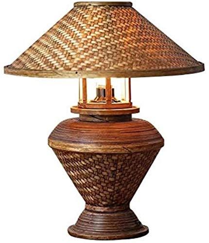 FengLing Kreative Wicker Tischlampe Handknit Lampenschirm Nachtlicht Kinder Nachttisch Schlafzimmer Geburtstag Ferienhaus Dekor Geschenkschalter Lichter