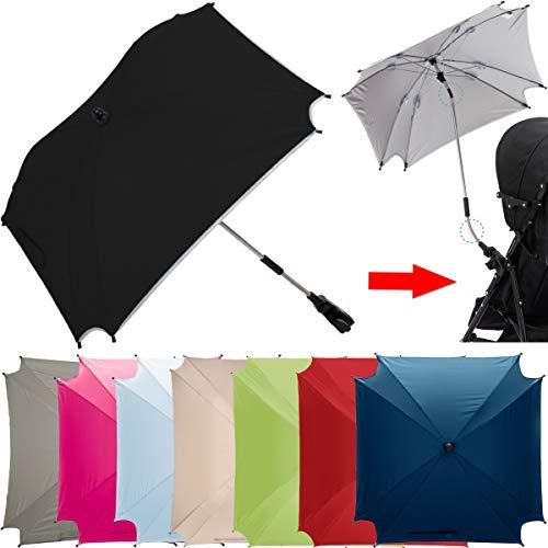XL SONNENSCHIRM für Kinderwagen und Buggys UV-SCHUTZ 50 / Schirm (WASSERDICHT) (NATUR)