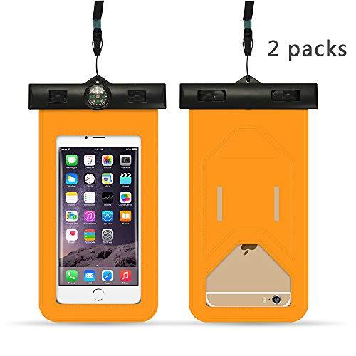 XIAOHE Funda Impermeable para teléfono móvil, Bolsa de Secado Universal Impermeable con cordón portátil, Adecuada para iPhones y teléfonos Android de Menos de 6 Pulgadas - (Azul)