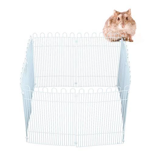Hamster hek, kleine huisdier box grote 8PCS verf coating ijzeren net Hamster hek box speelgoed met 18PCS plastic gesp verf coating ijzeren net