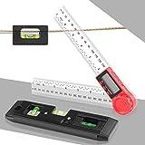 Medidor de Ángulo Digital, Niveles de Burbuja Magnético, 0-360 ° Transportador de Ángulo Finder Digital Medidor de Indicador de Regla de Buscador de Ángulo de Nivel de Burbuja