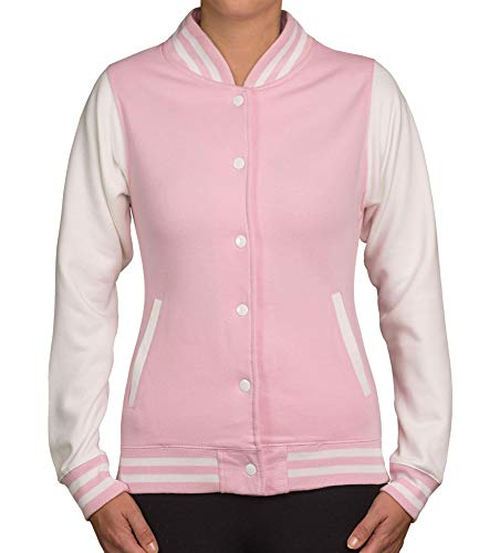 shirtdepartment Damen College Jacke zweifarbig rosa M