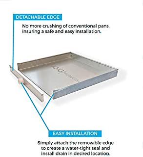 The Square Water Heater Pan with Detachable Front (30