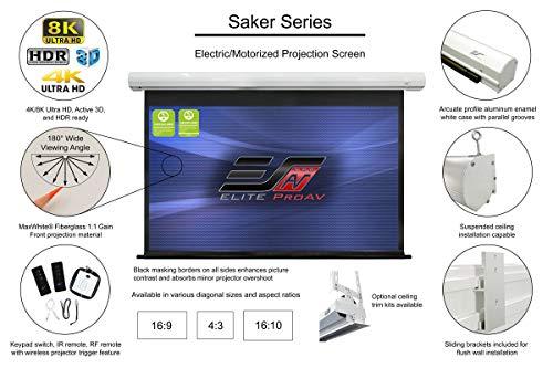 Elite Screens Motorleinwand Premium Saker 442 x 249 cm, 16:9 Format 200 Zoll, SK200XHW2