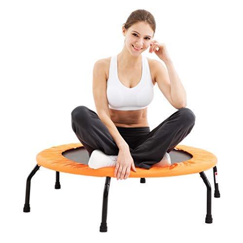 XHNXHN Trampolino Elastico Trampolino Fitness Super Jump Training Trampolino da Interno Trampolino per Adulti Trampolino Pieghevole Professionale Elasticizzato (Colore: Arancione, Dimensioni: 102 *