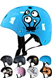 SkullCap Casque BMX - Casque Skate - Casque Velo, Design: Monster Blue NextLevel -...