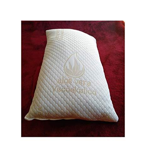 Relax Almohada VISCOELASTICA 100% Copos Y Fibra,Aloe Vera de 135