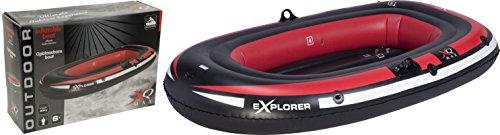 XQ Max Unisex aufblasbares Boot, rot/schwarz, 190 x 110 cm