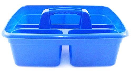 Organizador de productos de limpieza con asa Azul 2 Pack