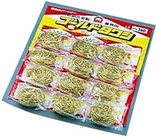 SA真鍮ゴールドタワシ(12個台紙付) 60g/62-6606-98