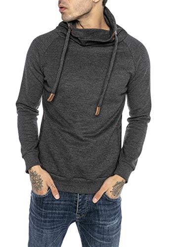 Redbridge Sudadera para Hombre Suéter Jersey con Cuello Alto Royal Gris Oscuro XL