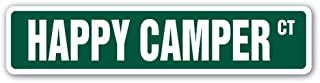 [SignJoker] HAPPY CAMPER Street Sign camp happiness fun time Wall Plaque Decoration