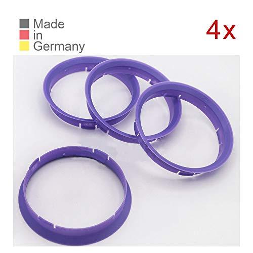 KONIKON 4X Zentrierringe 74,10 x 72,60 mm Lila Felgen Ringeringe Adapterringe für Verschiedene Felgen passend für BMW E36 E46 E39 E90 E60 E63 E23 E32 E38 X1 X3 X5 Z3