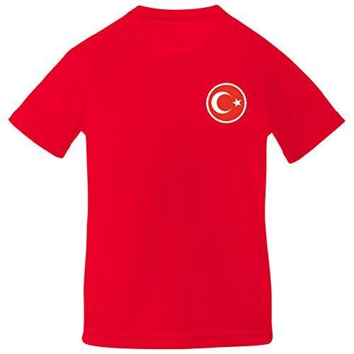 Print Me A Shirt Camiseta de fútbol Personalizados Turquía Turco Turkiye Primera equipacíon para niños