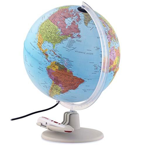 """Waypoint Geographic Parlamondo Interactive Talking Smart Globe 12"""" Diameter Illuminated"""