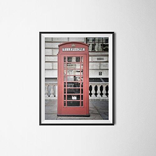 London Phone Booth Photography, Red Phone Box, London Print, Fine Art Print, Travel Photography, British Decor, Wall Art, Home Decor