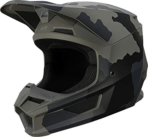 Fox Racing Trev Youth V1 Off-Road Motorcycle Helmet - Black Camo/Large